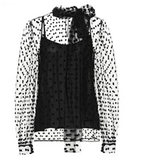 Costarellos Polka Dot Blouse Black