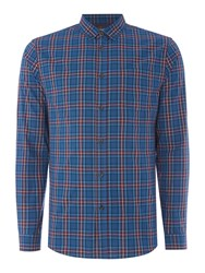 Linea Men's Limoges Tartan Shirt Teal