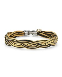 Alor Braided Stainless Steel Micro Cable Bracelet Black