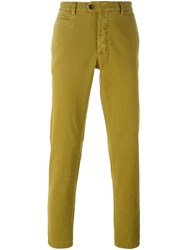 Fay Slim Chino Trousers Yellow And Orange