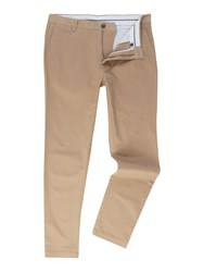 Linea Chelsea Slim Fit Chino Trousers Biscuit