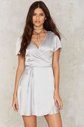 Glamorous Have You Ever Mini Dress Silver