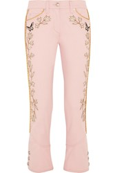 Isabel Marant Manet Embroidered Low Rise Skinny Jeans