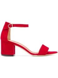 Via Roma 15 Chunky Heeled Sandals Red