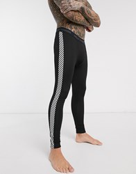 Helly Hansen Hh Lifa Base Layer Pants In Black Stripe