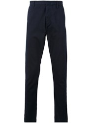 Armani Jeans Classic Tailored Trousers Men Cotton Polyester 52 Blue