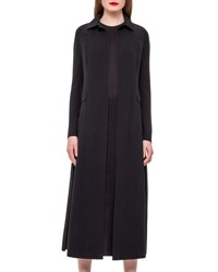 Akris Wool Blend Duster Coat Black