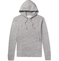Officine Generale Melange Loopback Cotton Jersey Hoodie Gray