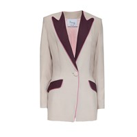 Hebe Studio The Hebe Suit Nude Boyfriend Blazer