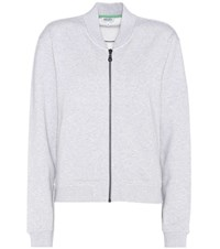 Kenzo Embroidered Cotton Bomber Jacket Grey