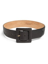 W. Kleinberg Python And Leather Belt Beige Multi Black