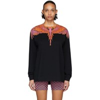 Marcelo Burlon County Of Milan Black And Red Wings Long Sleeve T Shirt