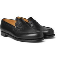 J.M. Weston 180 The Moccasin Leather Penny Loafers Black