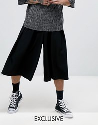 Reclaimed Vintage Inspired Wide Leg Culottes Black