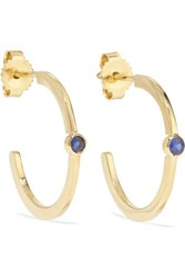 Jennifer Meyer 18 Karat Gold Sapphire Hoop Earrings