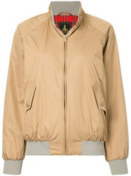 Hysteric Glamour Stand Up Collar Bomber Jacket Polyester Rayon Nude Neutrals