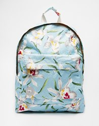 Mi Pac Orchid Backpack In Pale Blue Pale Blue Orchid Multi