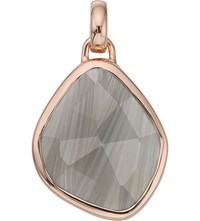 Monica Vinader Siren Medium 18Ct Rose Gold Plated And Grey Agate Pendant