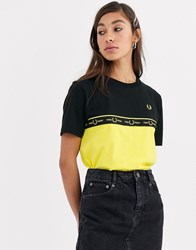 Fred Perry Taped Tee Black