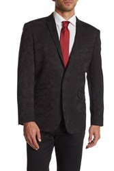 Kenneth Cole Reaction Black Camo Two Button Notch Lapel Blazer 006Black