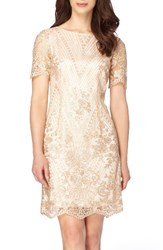 Tahari Women's Sequin Lace Shift Dress