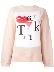 Au Jour Le Jour Patch Detail Sweatshirt Nude Neutrals