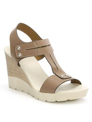 Daniel Peterlee High Wooden Wedge Sandals Brown