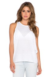 Twenty Perforated Tank White