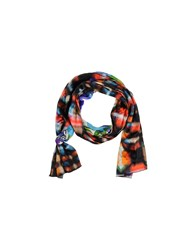 Grey Daniele Alessandrini Accessories Oblong Scarves Women Blue
