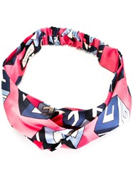 Gucci Wallpaper Print Headband Pink Purple