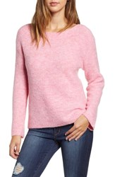 Leith Cozy Femme Pullover Sweater Pink Storm Heather