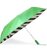 Kate Spade Green And Black Stripe Travel Umbrella