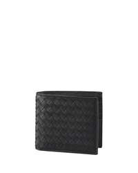 Bottega Veneta Basic Woven Wallet Black Black