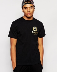 Aape By A Bathing Ape Aape T Shirt With Small Logo Black