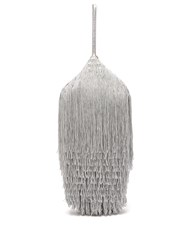 Hillier Bartley Lantern Tassel Embellished Bag Silver