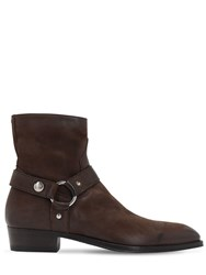 Alberto Fasciani 35Mm Zip Up Buffalo Leather Boots Brown