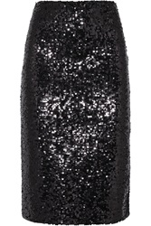 By Malene Birger Poliio Sequined Satin Jersey Pencil Skirt