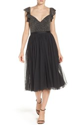 Needle And Thread Women's Tulle Midi Dress Washed Black