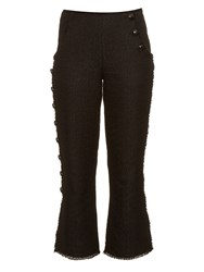 Proenza Schouler Button Down Leg Tweed Trousers