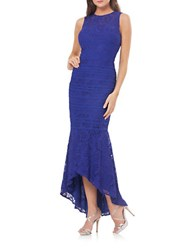 Js Collections Lace Sleeveless High Low Gown Royal