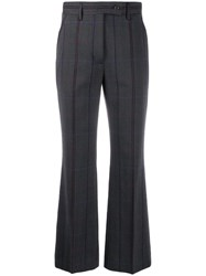 Acne Studios Fitted Flared Trousers Grey
