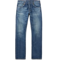 Visvim Social Sculpture Slim Fit Washed Denim Jeans Blue