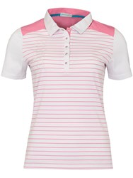 Green Lamb Courtney Striped Polo White