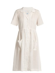 Solid And Striped The Pool Dress Gathered Detail Shirtdress Cream