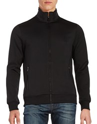 Perry Ellis Textured Full Zip Jacket Black
