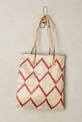 Anthropologie Ruby Chevron Tote Red