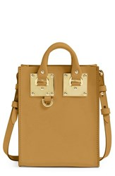 Sophie Hulme 'Nano Albion' Crossbody Bag Brown Summer Tan