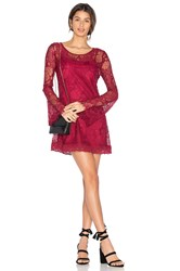Band Of Gypsies Lace Dress Red
