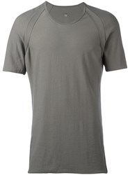 Label Under Construction Plain T Shirt Grey