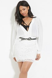 Forever 21 Plus Size Crochet Skirt White